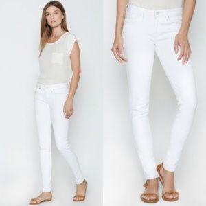 Joie White Mid Rise Skinny Jeans Sz 31
